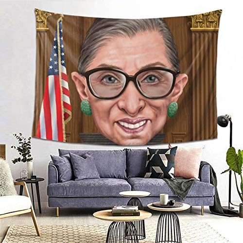 FGHJ RBG Hollywood's Infamous R.B.G Interesting Custom Tapestry Wall Hanging Wall Decoration (60 X 80 inches)