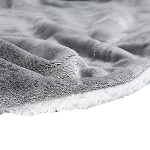 LouisaYork - Manta de forro polar suave y de gran grosor con reverso de borreguillo, manta sherpa de microfibra reversible para sofá, sillón o cama. Color liso