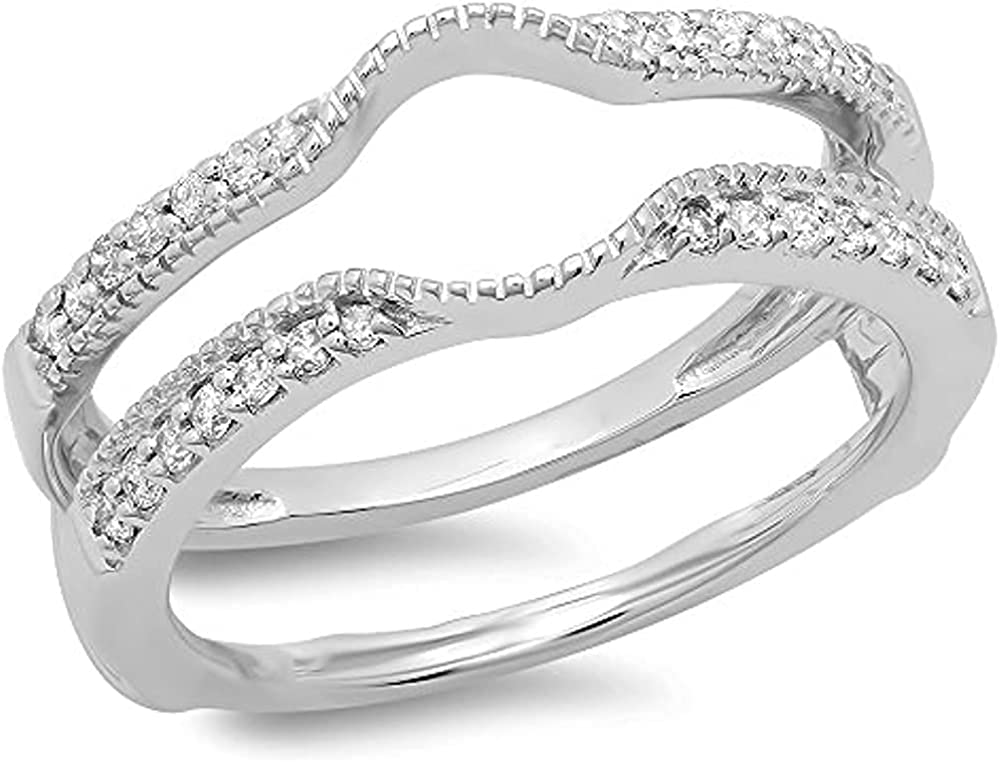 35% OFF Tusakha 0.25Ct 14K White Gold Swarovski D Round Cut It is very popular Plated
