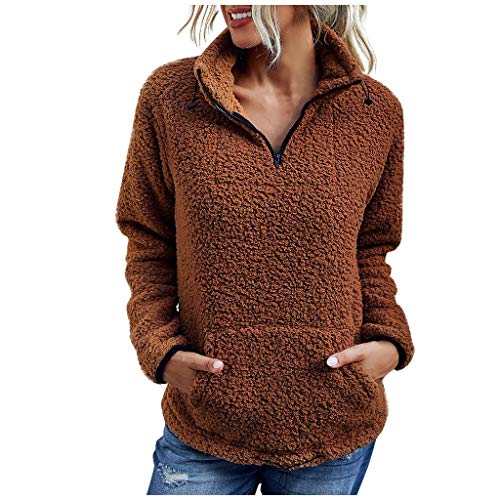 Sudaderas con Capucha Mujer,Caliente y Esponjoso Tops Chaqueta Suéter Abrigo Jersey Mujer Otoño-Invierno Talla Grande Hoodie Sudadera con Capucha riou