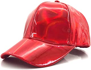 Fashion Hip-hop hat for Rainbow Color Changing Hat Cap Back to The Future Prop Bigbang G-Dragon Baseball Cap` TuanTuan (Color : Red, Size : 56-60CM)