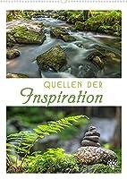 Quellen der Inspiration (Wandkalender 2022 DIN A2 hoch): Impulse, tiefsinnige Gedanken und grossartige Naturmotive. (Monatskalender, 14 Seiten )