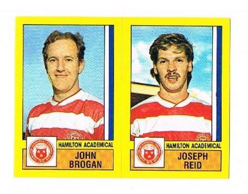 No.519 John Brogan / Joseph Reid of Hamilton Academical - Football 87 - Panini - English & Scottish League
