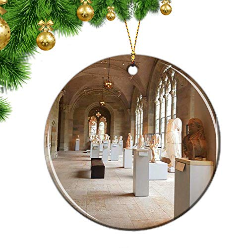 USA Yale University CT Christmas Ornaments USA Yale University Art Gallery Connecticut Christmas Ornaments Ceramic Sheet Souvenir Travel Gift