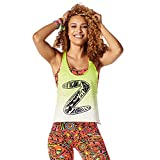 Zumba Fitness When The Sun Goes Down Crop Tank Top, Todo el año, Mujer, Color Zumba Green, tamaño Extra-Small