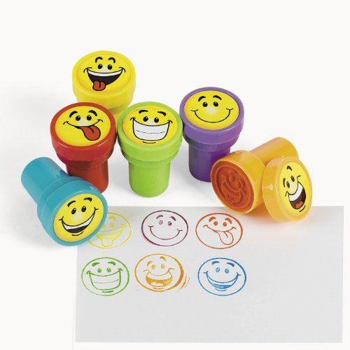 cama24com Kinderstempel Smileys mit 6 verschiedenen Motiven Palandi®