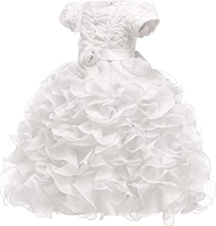 Baby Girl Dresses Ruffle Lace Pageant Party Wedding Flower Girl Dress