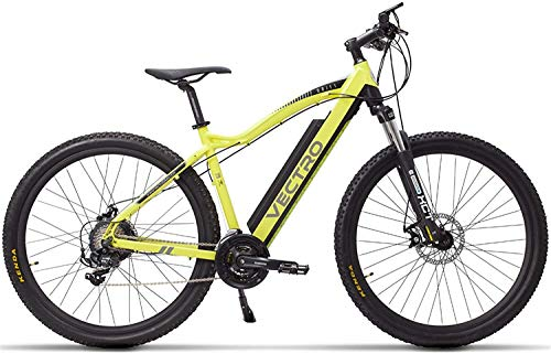 Wangshengda Electric Bicycle MSEBIKE VECTRO 29 inch Electric Bike, Mountain Bike, Hidden Lithium Battery, The Auxiliary Pedal 5, Lockable Fork ryqa (Color : Yellow Standard, Size : 350W 36V 13Ah)