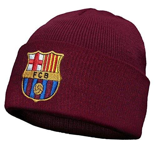 Barcelona F.C. - Bonnet - Homme taille unique, Rouge,