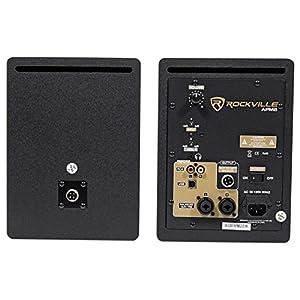 "Pair Rockville APM5W 5.25"" 2-Way 250W Powered USB Studio Monitor Speakers+Pads"