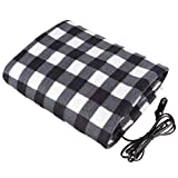 12V Electric Heated Car Blanket Cold Weather Travel Warm Blankets for Car RV