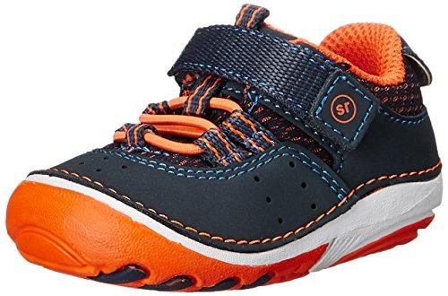 Stride Rite Soft Motion Amos Sneaker (Infant/Toddler), Navy/Orange, 3 M US Infant