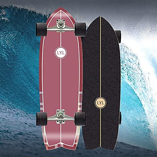 VOMI Pumpping Skateboards Für Anfänger, Street Surfing Skateboard Surfskate Carver Komplettboard 78×20Cm Trick-Skateboard Komplettes Skateboard Mit ABEC-11-Kugellager Konkaves Cruiser Board