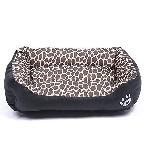 Cama para Perros de Felpa Suave y cálida Cama para Perros Cama para Dormir mullida sofá para Mascotas Perros pequeños y medianos de Varios tamaños -Leopardo_XXL-95 * 85cm