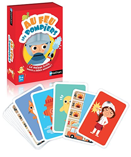 Nathan - Au feu les pompiers - Un jeu de cartes pour enfant