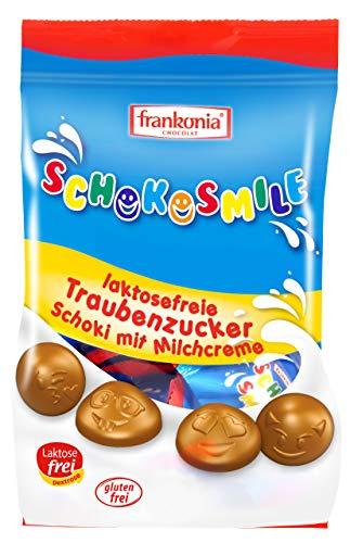 Schokosmile Frankonia laktosefreie Traubenzucker Schoki mit Milchcreme glutenfrei, 120 g