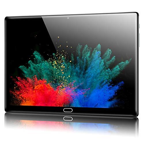 Padgene N10 Tablet 10.1 Zoll (25.54cm), Android 10.0 Ultra Dünn Tablett PC, Octa-Core, 64GB erweiterbar auf bis zu 256GB, 4GB RAM, 4G LTE Phablet, Dual SIM, WiFi, Bluetooth(Grau)