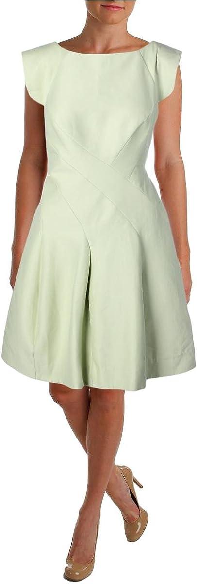 HALSTON HERITAGE Women's Silk Faille Cap-Sleeve Structured Cocktail Dress