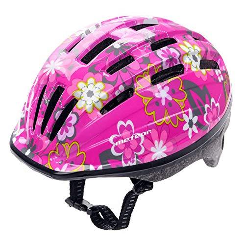 meteor® Kinderfahrradhelm Sicherer Fahrradhelm Kinder-Helm rollerhelm mädchen kinderfahrradhelm für Mountainbike Inliner skaterhelm BMX fahradhelm Scooter Jungen Bike Helmet (Pink, S (48-52))