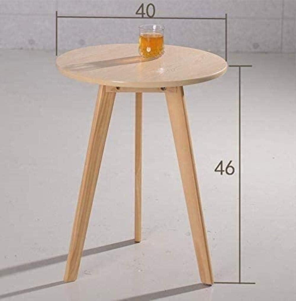 Table Living Table de Nuit Chambre, Table Ronde latérale Multi-Fonctionnelle (Couleur: Noir), Couleur: Jaune (Color : Black) Black