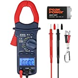 AstroAI Digital Clamp Meter TRMS Multimeter 6000 Counts Voltage Tester with Manual and Auto Ranging, Volt Amp Ohm Meter, AC Current, Resistance, Continuity, Diodes, Temperatur Tester, Red/Black, Gift for Man