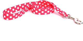 Yellow Dog Design Strawberry Polka Dot Dog Leash-Size Large-1 Inch Wide and 5 feet (60 inches) long