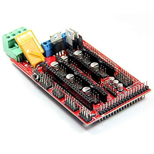 Ecloud Shop® Contrôleur Pixnor Imprimante 3D RAMPS 1.4 pour Reprap MENDEL PRUSA Arduino