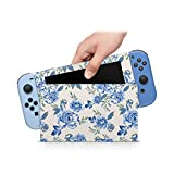 ZOOMHITSKINS Finest Blooms Bouquet Ancient Tender Dreamy Baby Blue Azure High Quality 3M Vinyl Decal Sticker Wrap, Bubble-free Install, Goo-free Removal, Nintendo Switch Compatible, Made in the USA