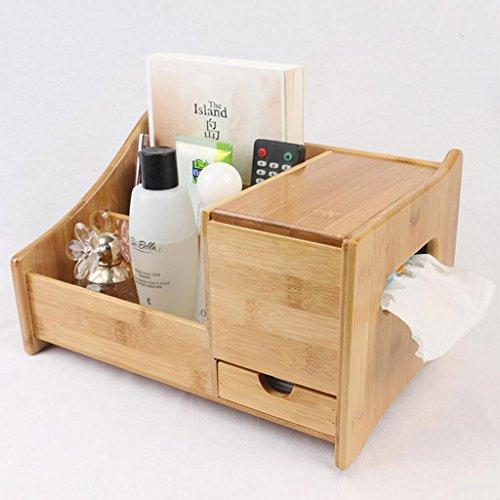 Coffrets de maquillage Bamboo Cosmétiques boîte de Rangement Dressing Tables Bureau cosmétique Boîte de Rangement Dessiner boîte de Papier étagère (Conception : B Style)