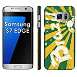 Samsung Galaxy [S7 Edge] Phone Cover, Brazil Soccer Ball- Black Slim Clip-on Phone Case for [Samsung Galaxy [S7 Edge]]