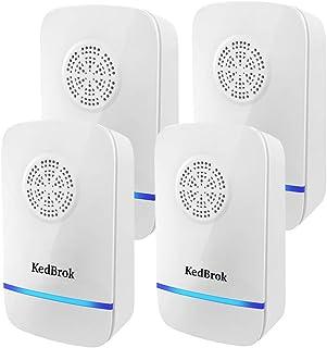 KedBrok Antizanzare Ultrasuoni 4 Pack, Ultrasuoni per Topi Elettrico Repellente ad Ultrasuoni Dissuasore Anti Zanzare, Top...