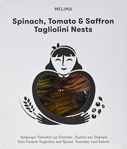 Melima Drei Farben Tagliolini mit Safran, Spinat und Tomaten Nester, 1er Pack (1 x 500 g)
