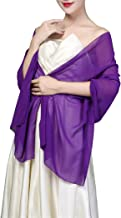 Soft Chiffon Shawls and Wraps for Evening Dresses, Wedding Shawl Wrap Fringes Scarf for Special Occasions