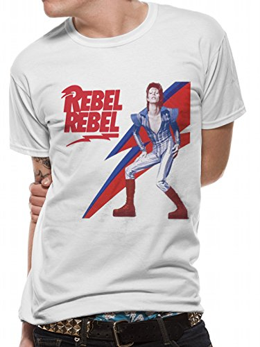 Men's Official David Bowie Rebel Rebel T-shirt, S to XXL