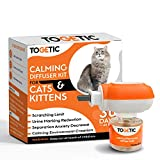 KORIER Cat Calming Diffuser and Refill - Long-Lasting Pheromone Calming Treats for Cats - Constant Calming and Comfort at Home, 48 ml - USA Plug