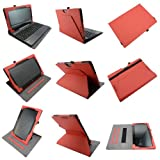 Coodio® Asus Transformer Book T100TA 360 Rotating Multi-Angel Stand Leather Cover Built-in Hand Grip(Supports Keyboard) - Colour Red
