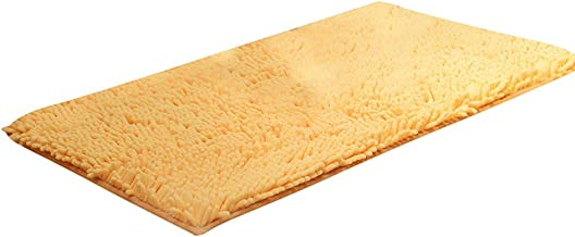 Amarillo Chrasy Alfombras de Ba/ño Microfibras Suaves Alfombrilla de Ba/ño Antideslizante Alfombra Lavar a Maquina Adecuado para Sala de Estar//Cocina//Dormitorio de Interior//Exterior 45x65CM