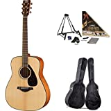 Yamaha FG800 Acoustic Guitar, Natural, with Yamaha Guitar Case and Accessories Pack