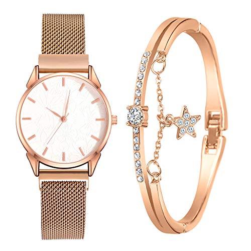 Fenverk Damen Armbanduhr Sailor Line Modest mit Meshband,Geschenk für Frauen Perfect Match - Frauen Geschenk Box Set, Freundin, Mama oder Schwester(H#02)