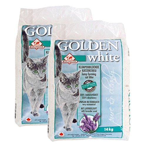 pet-earth Golden White Katzenstreu mit Lavendelduft 2x14kg