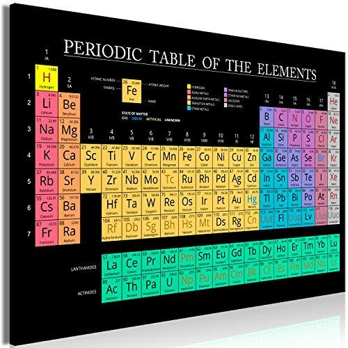murando Cuadro en Lienzo Tabla periodica de Elementos 120x80 cm impresión en Material Tejido no Tejido impresión artística fotografía Imagen gráfica decoración de Pared Química m-C-0319-b-a
