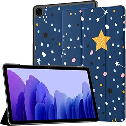 Funda para Tableta Samsung Galaxy Tab A7 de 10,4 Pulgadas 2020 (sm-t500 / t505 / t507), patrón Infantil sin Costuras, Cielo Estrellado Nocturno, Soporte de múltiples ángulos, con activación/suspens