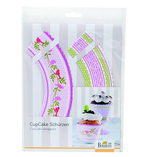 RBV Birkmann Cupcake Wrappers Set Vogel 12 stuks, Papier, Multi kleuren, 18,2 x 1 x 26 cm