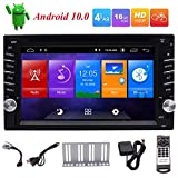 EinCar Double Din Car Stereo Android 10.0 Car Radio with Bluetooth GPS Navigation DVD Player 6.2 inch Touch Screen Head Unit Support WiFi FM/AM Radio Mirror Link Steering Wheel Controls USB/SD OBD2