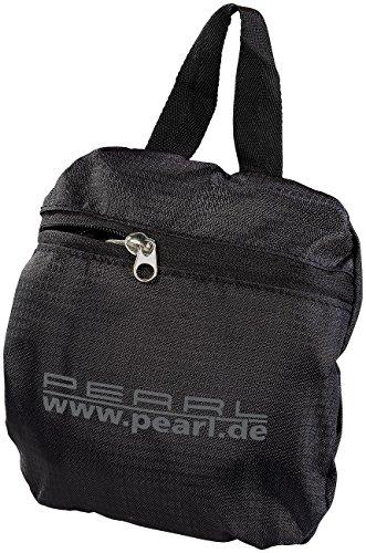 PEARL Faltrucksack: Faltbarer Rucksack, 15 l, 160 g, wasserabweisend beschichtet, schwarz (Minirucksack)