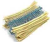 WINGONEER 30 Values 750 pcs Resistor Kit (10 Ohm - 1M Ohm / 25pcs) 1/4W Metal Film Resistors Assortment
