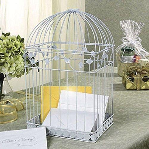 Oriental Trading - White Birdcage Wedding Gift Card Holder Wishing Well, New, Fr ,,#G434G14 1T4G3484TYG482764