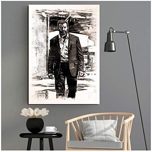 xiongda Logan Poster und Drucke Wandkunst Leinwand Bilder für Wohnzimmer Home Decor Wanddekor Leinwand Wandkunst / 50X70cm-No Frame