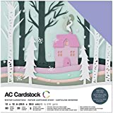 American Crafts Variety Cardstock Pack x 12-inch 60/Pkg, 30.73 x 30.48 x 2.03 cm, Multicoloured
