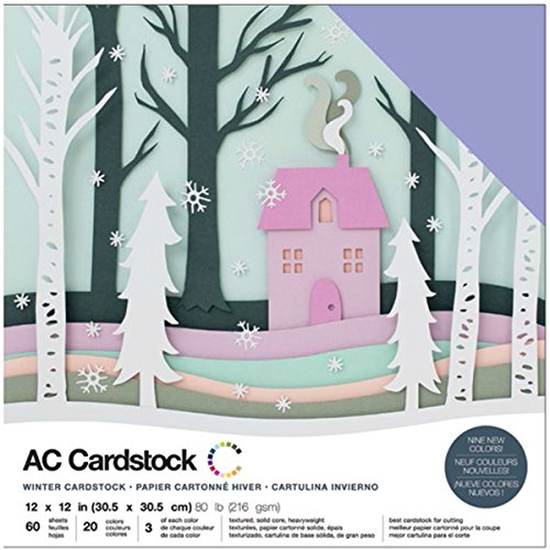 American Crafts Kit de Scrapbooking Winter Cardstock 30x30cm